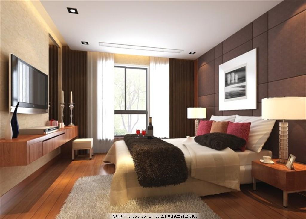 卧室 装饰室内效果图 室内设计 室内装修 装饰公司 家装 客房