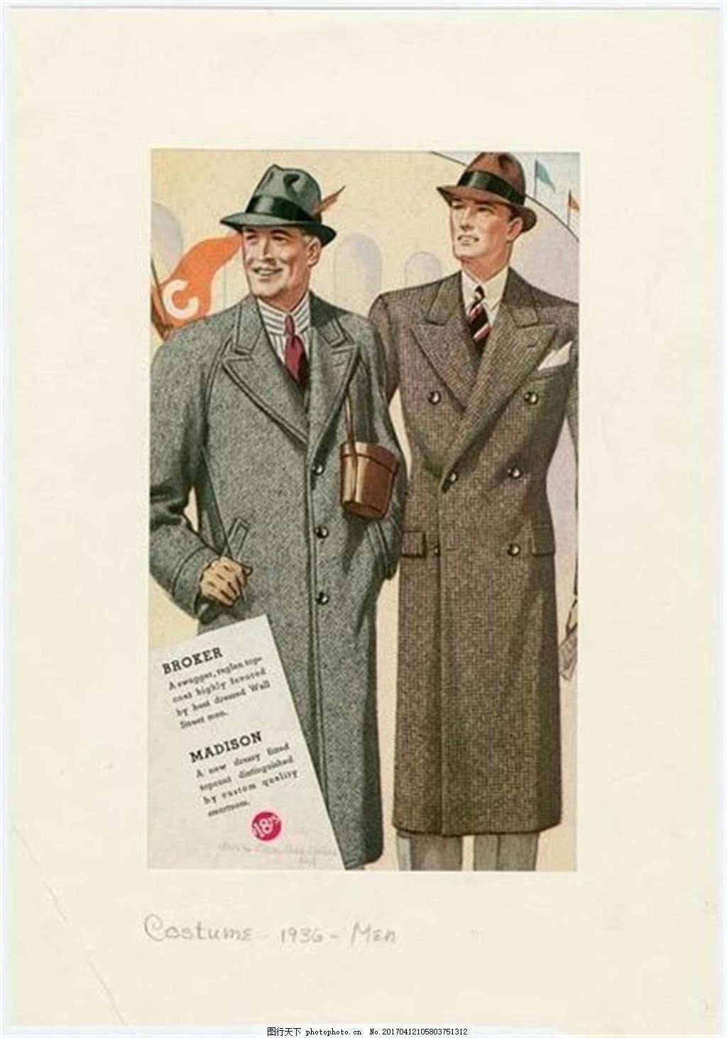 2款欧式长西装外套设计图 时尚女装 职业女装 男装设计效果图 服装