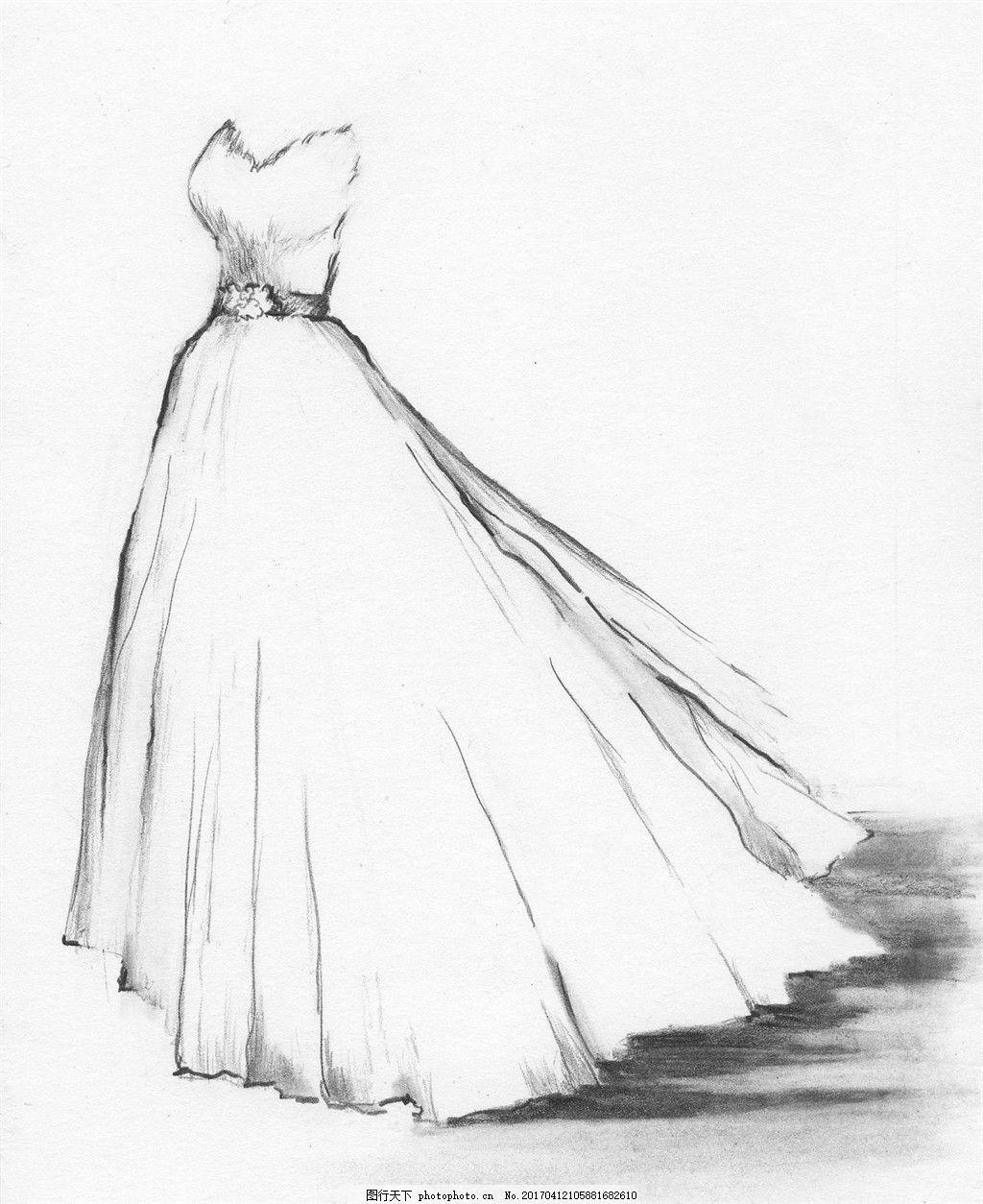抹胸长裙设计图 服装设计 时尚女装 职业女装 职业装 女装设计效果图