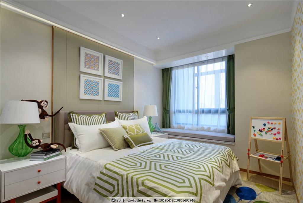 北欧风格卧室家装效果图图片
