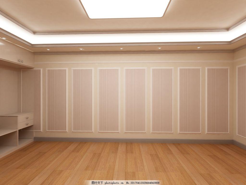 观色展厅卧室墙板效果图