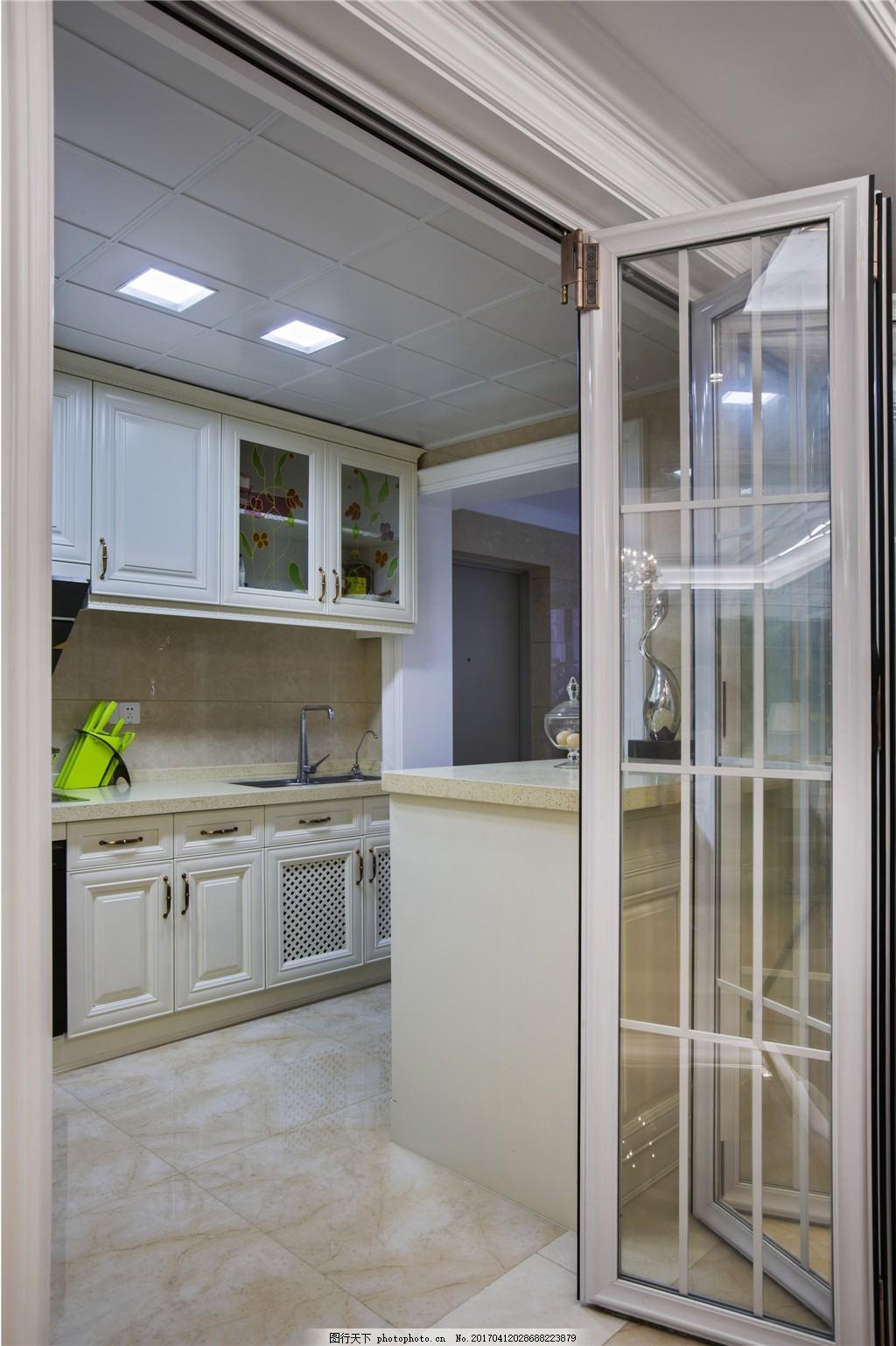 现代厨房室内设计家装效果图 现代      室内设计 家装效果图 玻璃门