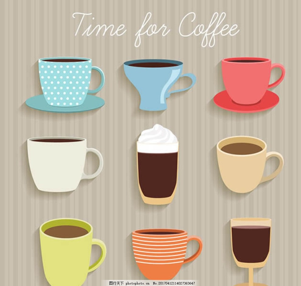 卡通咖啡杯