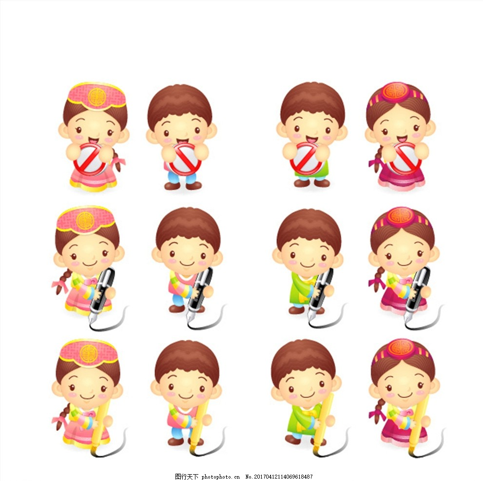 写字的小朋友 学习 写字 小朋友 韩国 韩国服 韩国小朋友 朝鲜 朝鲜族
