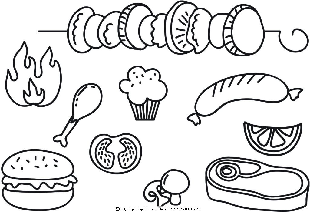 食物简笔画图片
