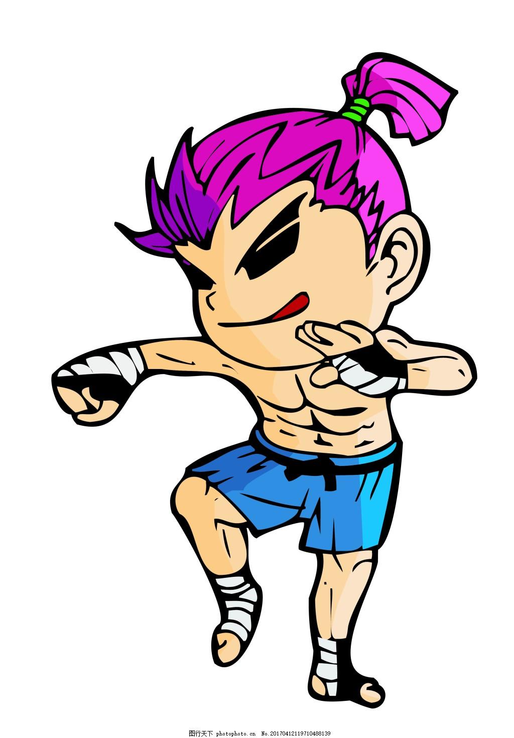可爱卡通运动员 卡通运动员 矢量运动员矢量卡通人物大全 日常生活 矢
