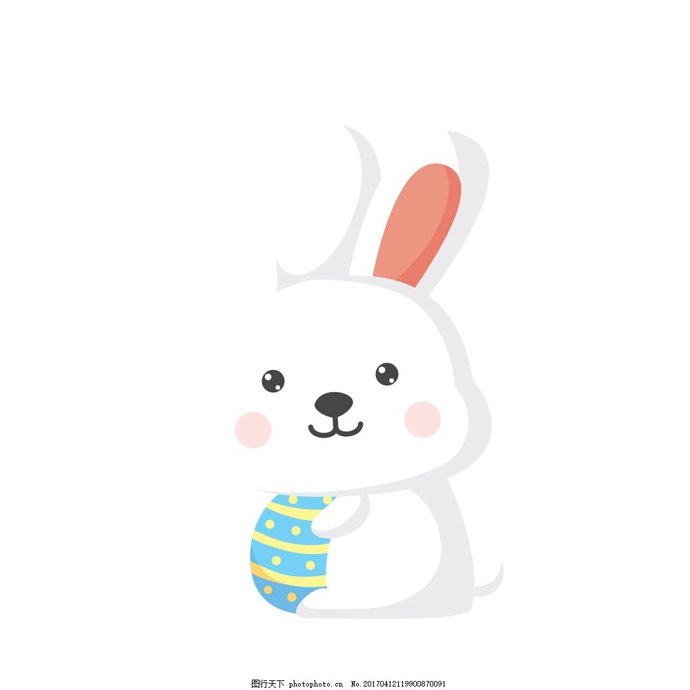 卡通小白兔 卡通 小白兔 萌萌哒 可爱