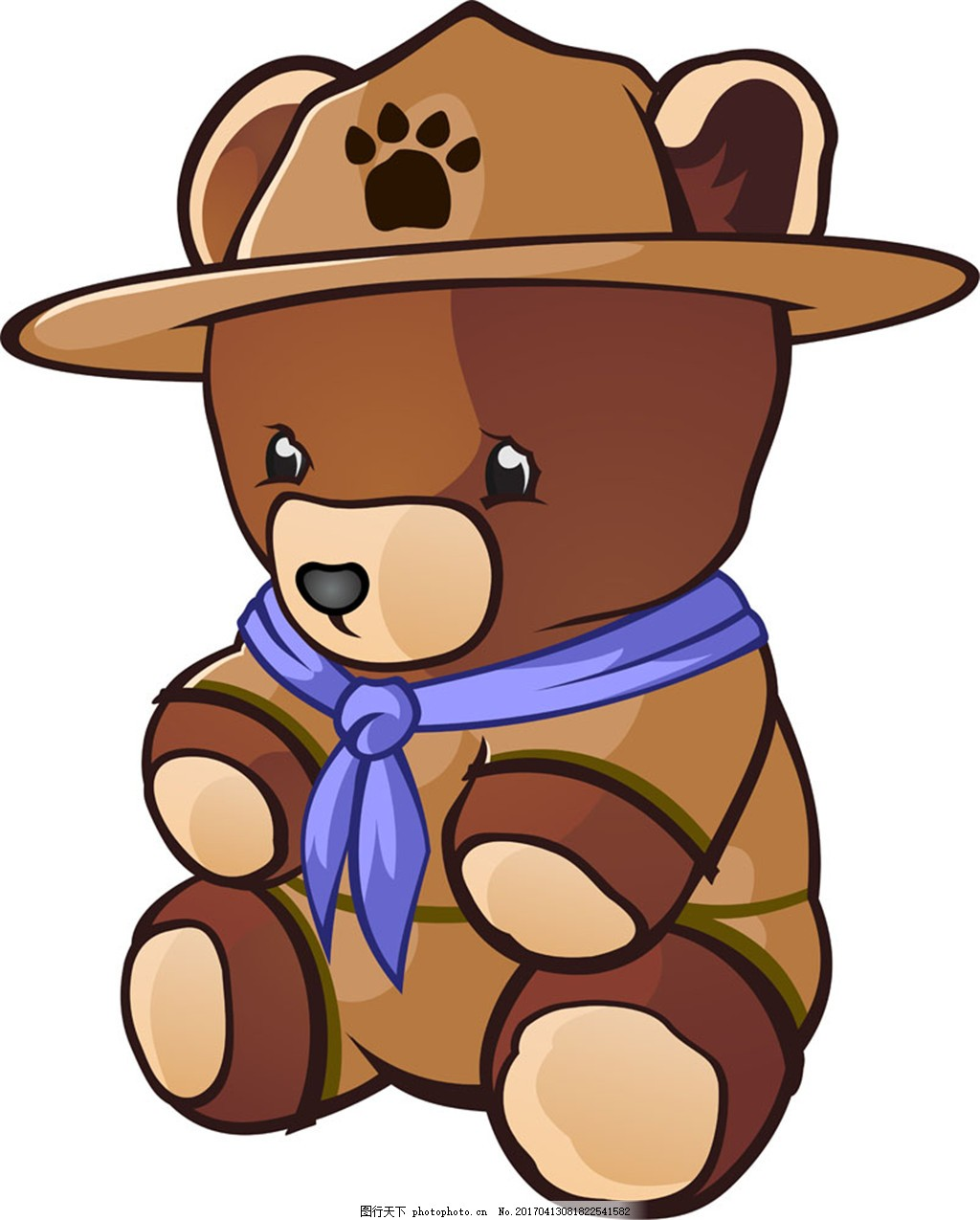 戴帽子小熊 戴帽子小熊矢量图片 卡通熊 玩具熊 陆地动物 动物漫画