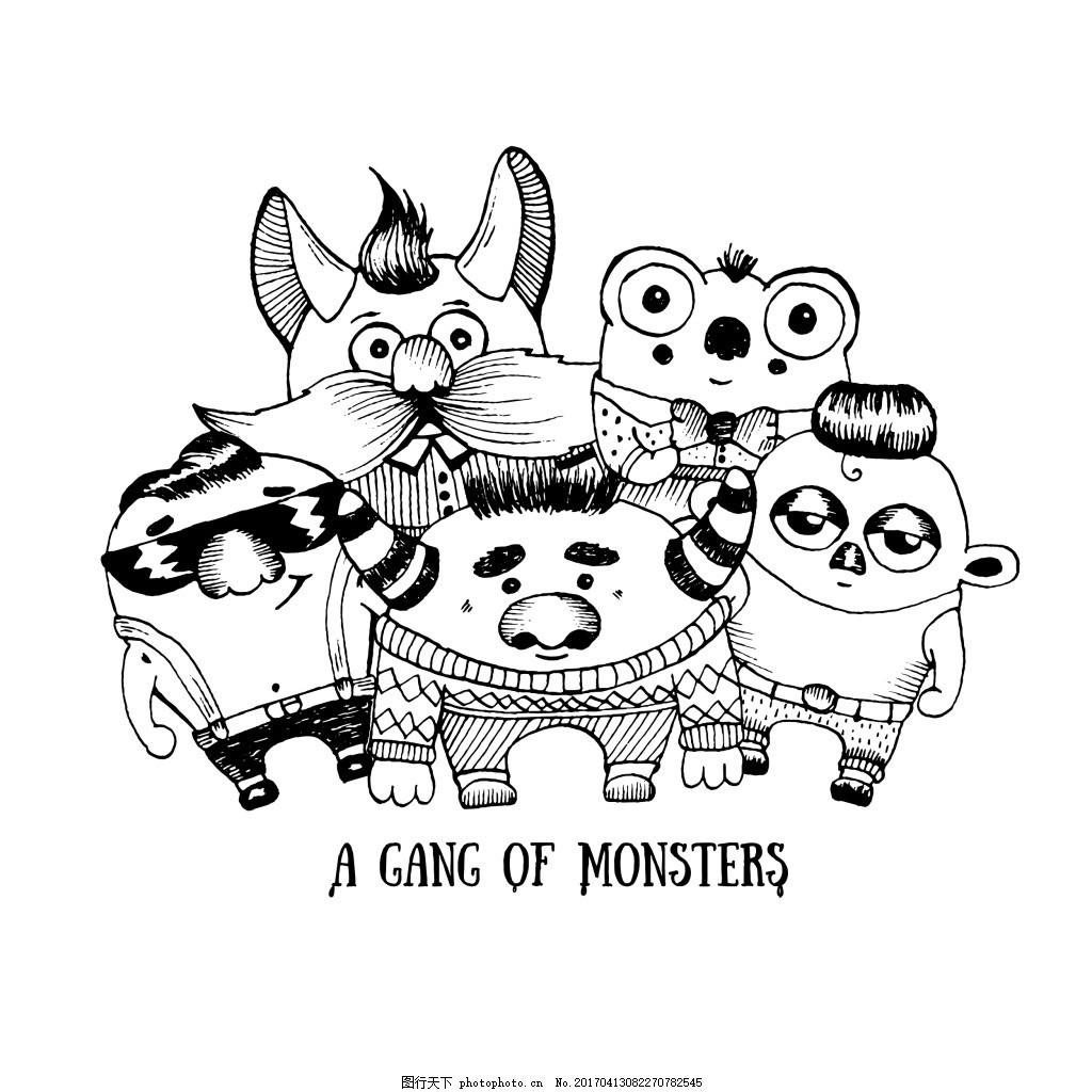 5分钟手绘可爱怪兽