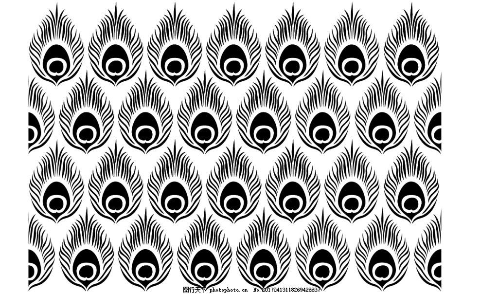 矢量孔雀羽毛背景素材
