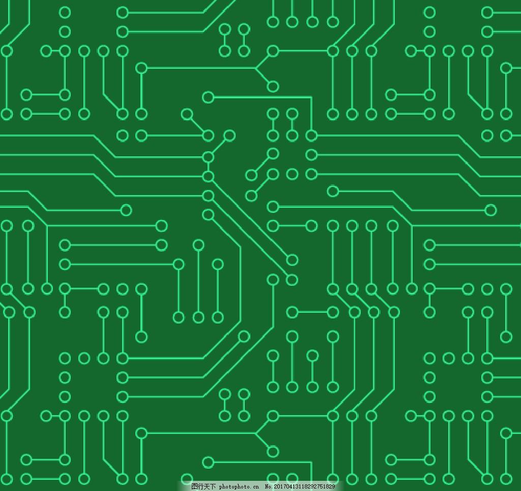 电路板的无缝图案 电路板 底纹边框 复古 几何图形 矢量 矢量底纹背景