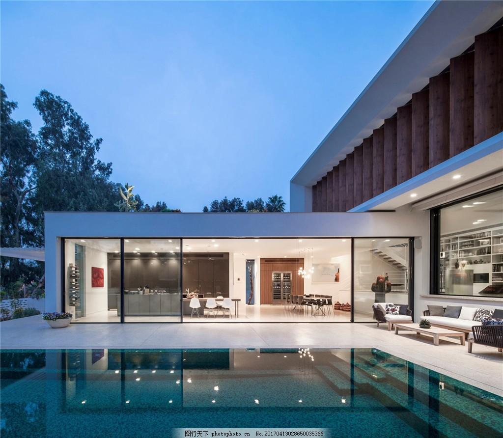 时尚别墅游泳池设计图