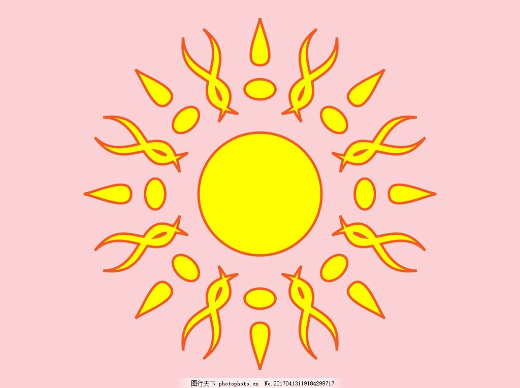 创意太阳图案