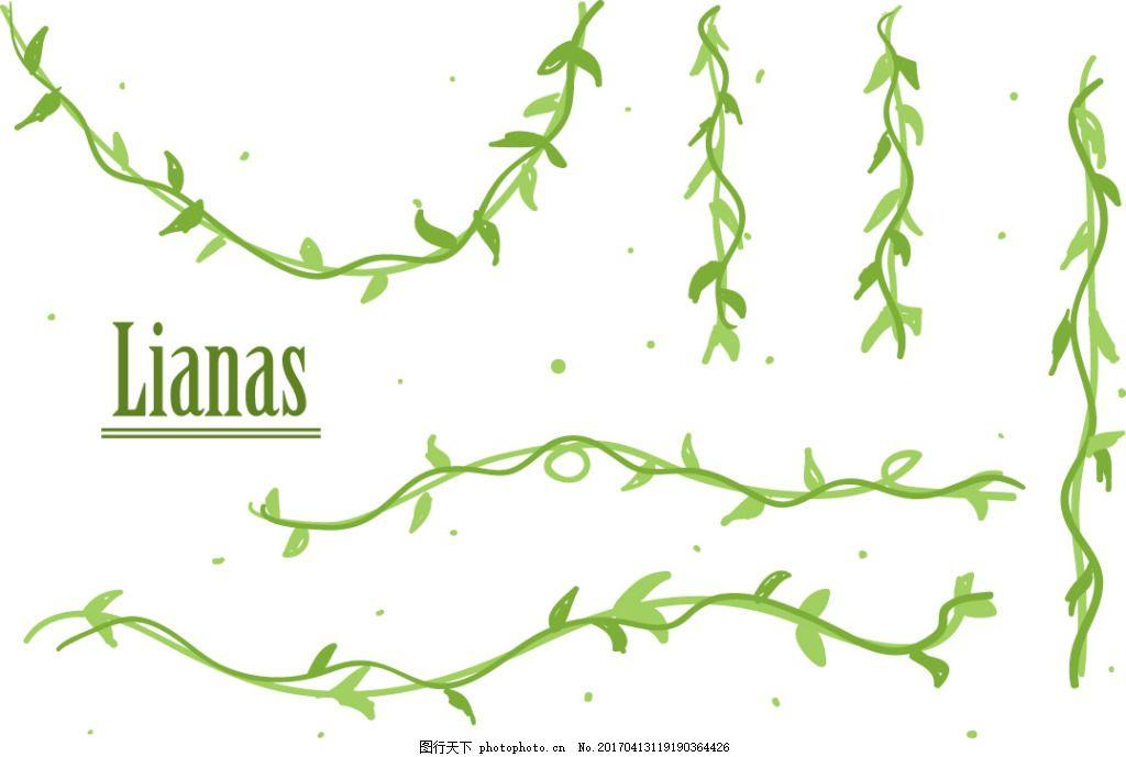 韩国手绘大树藤蔓