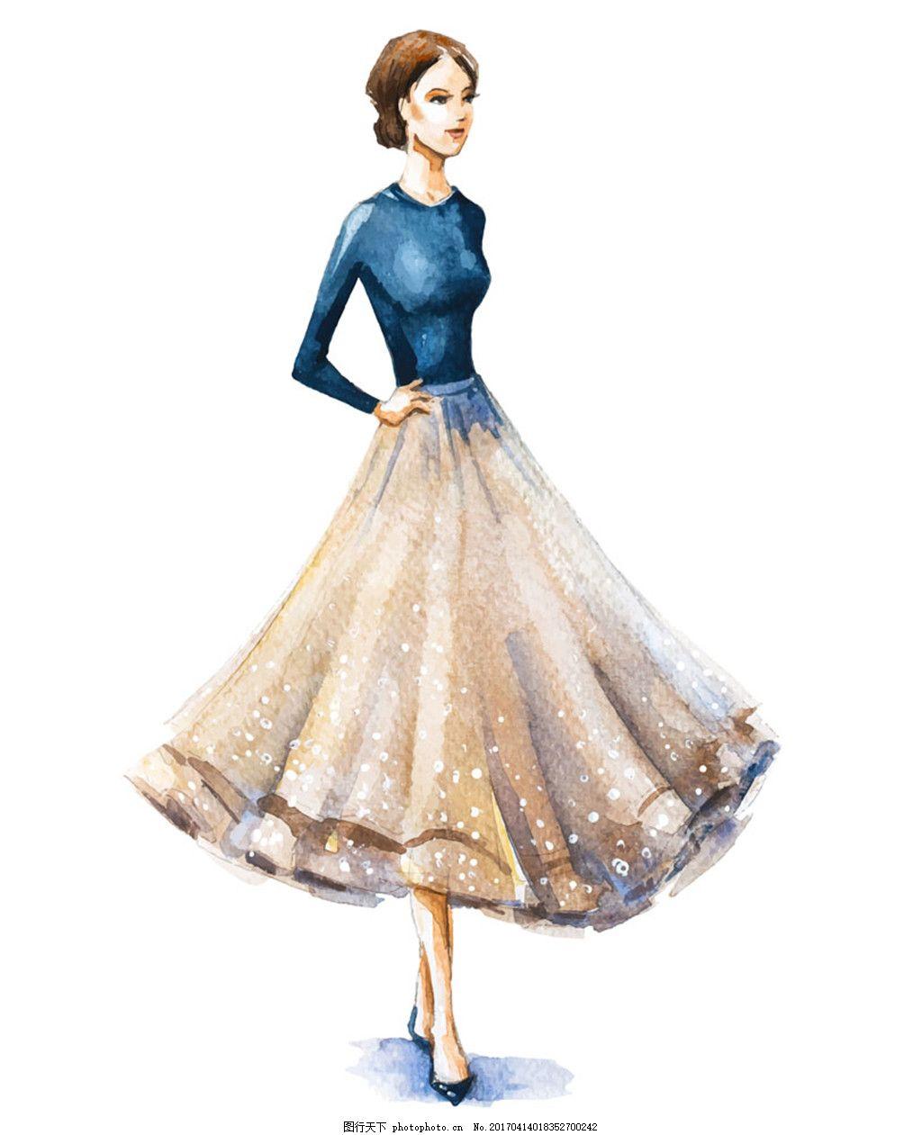 裙子设计手绘稿图片