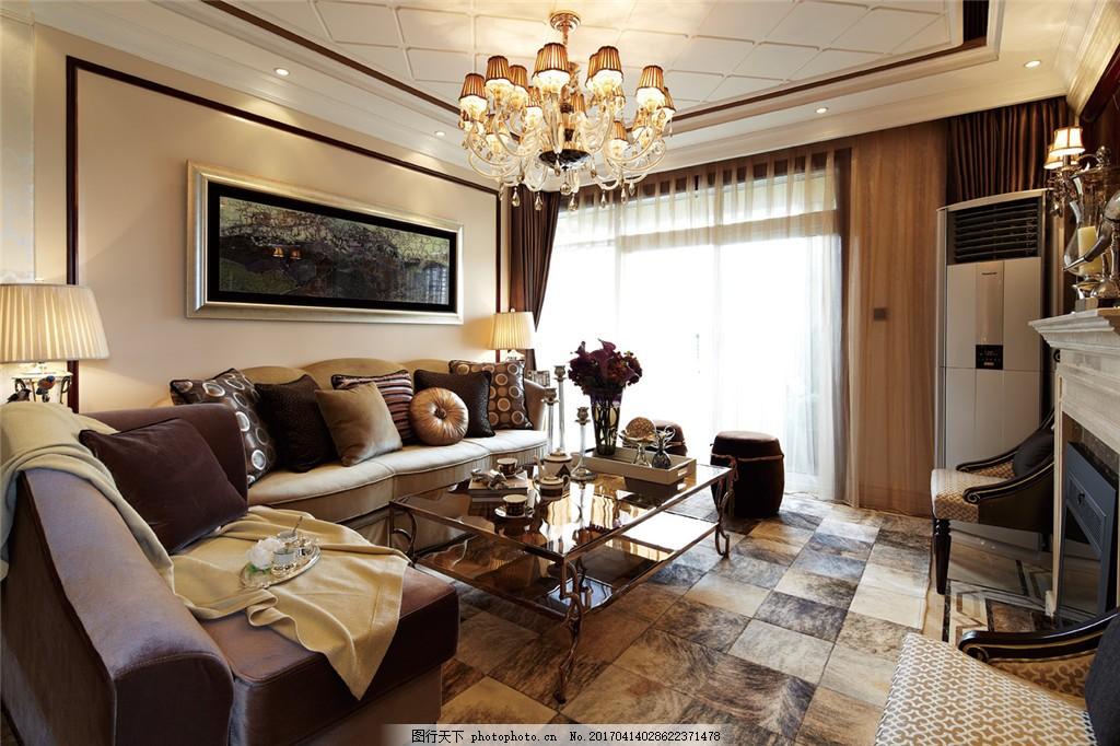 欧式豪华客厅室内设计家装效果图