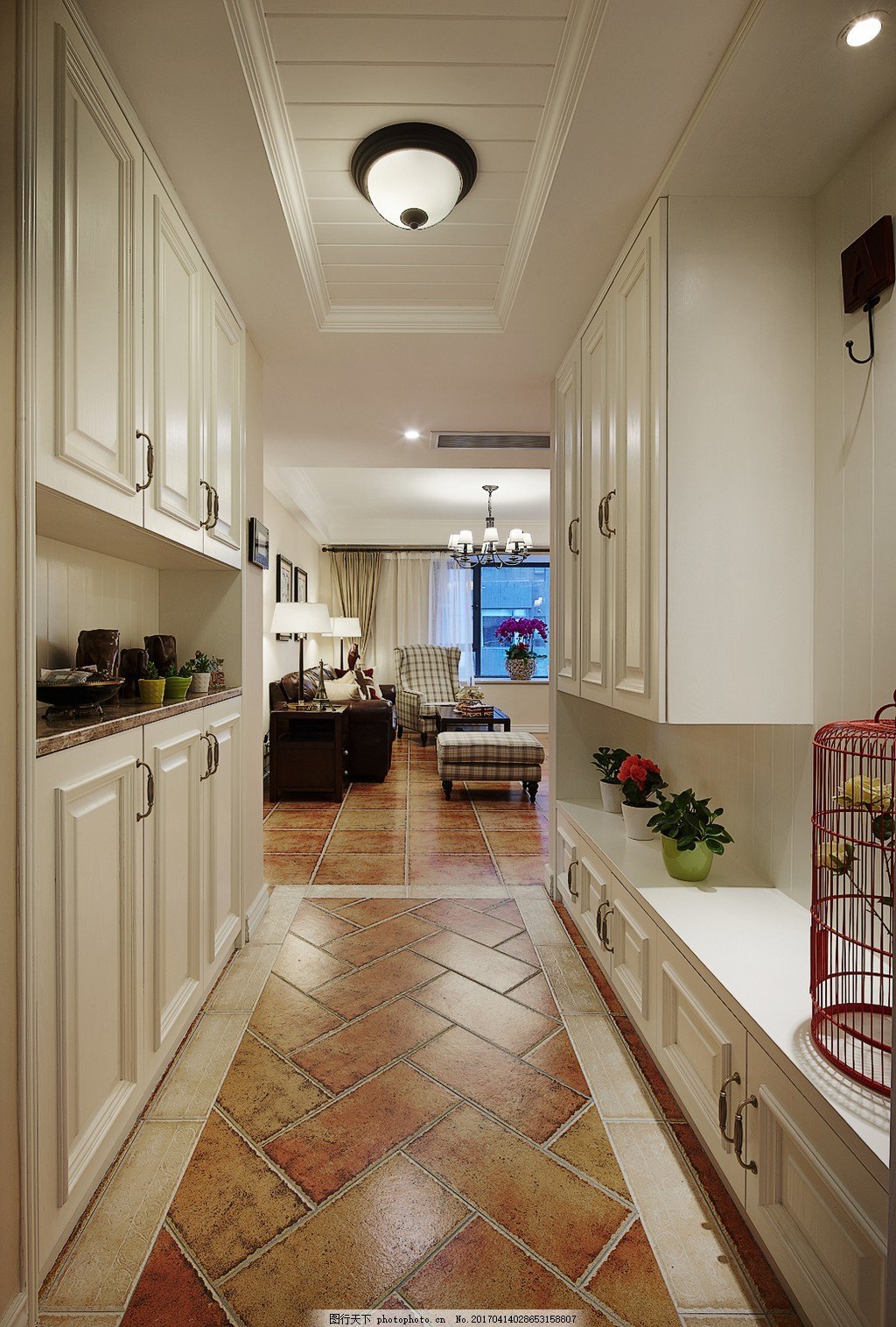 美式厨房柜子设计图 家居 家居生活 室内设计 装修 家具 装修设计图片