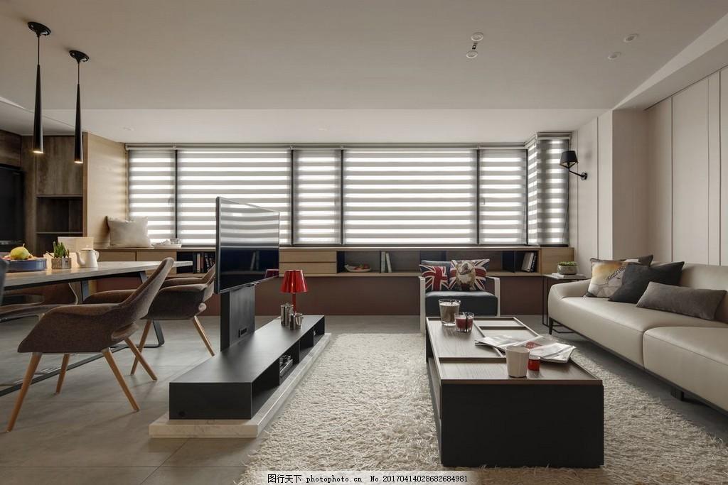 港式简约客厅窗户设计图