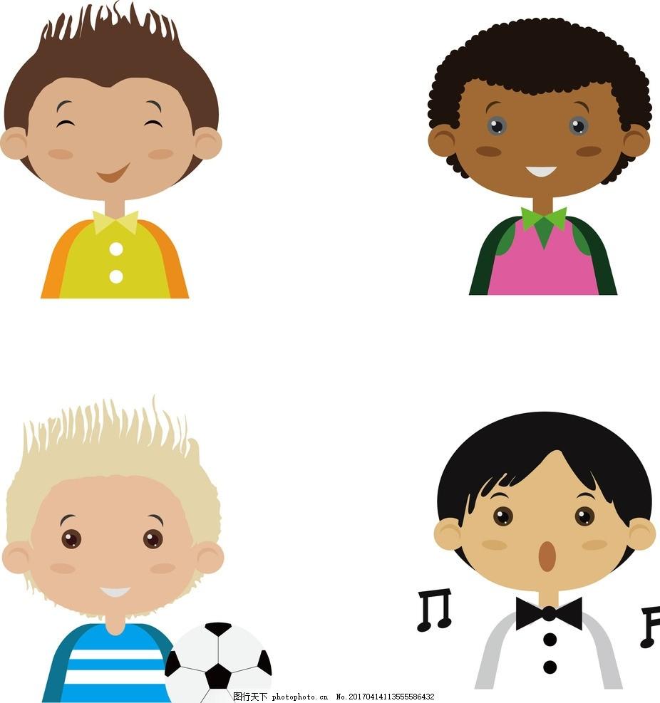 卡通头像 卡通      足球 小男孩 boy 设计 动漫动画 动漫人物 300dpi