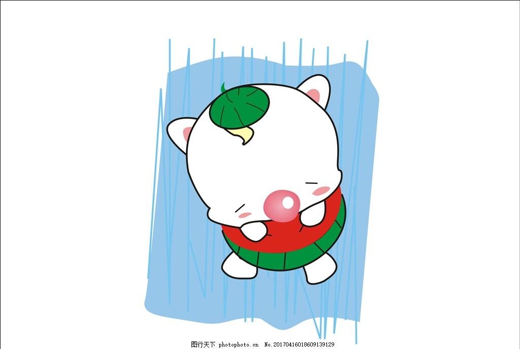 小猪吃西瓜