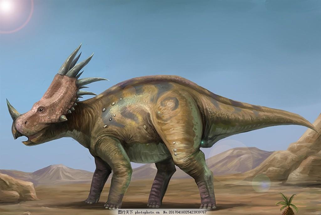 戟龙 恐龙 怪兽 插画 原画 爬行动物 食肉牛龙 食肉龙