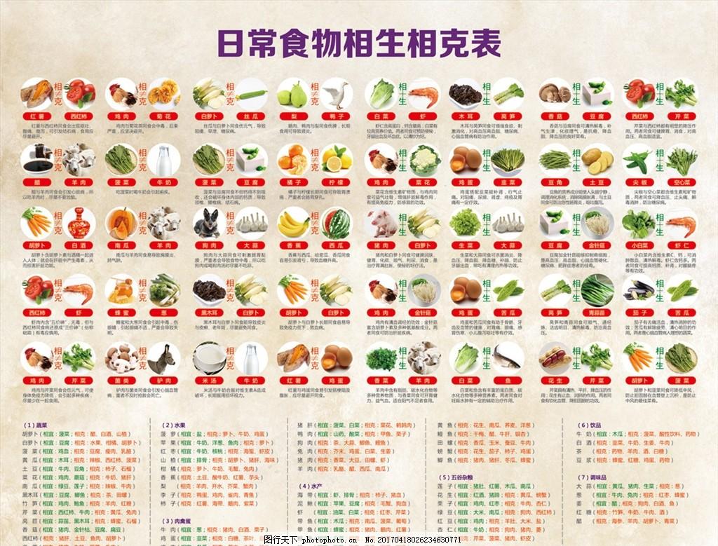 日常食物相生相克表