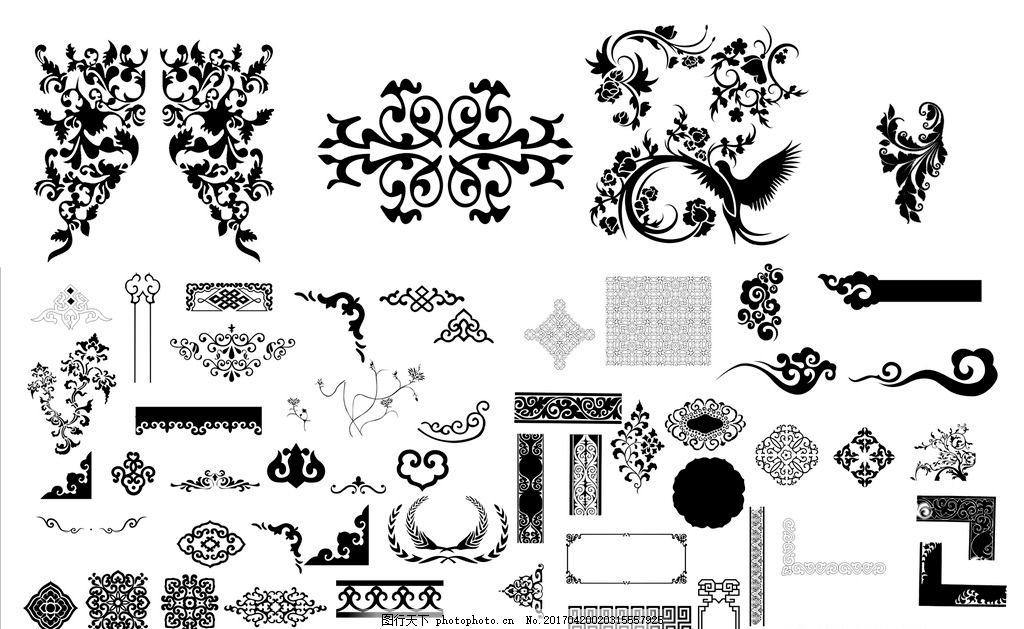 花纹花边 底纹边框 复古 传统 欧式 古典 边框 画框 边框 花边 设计