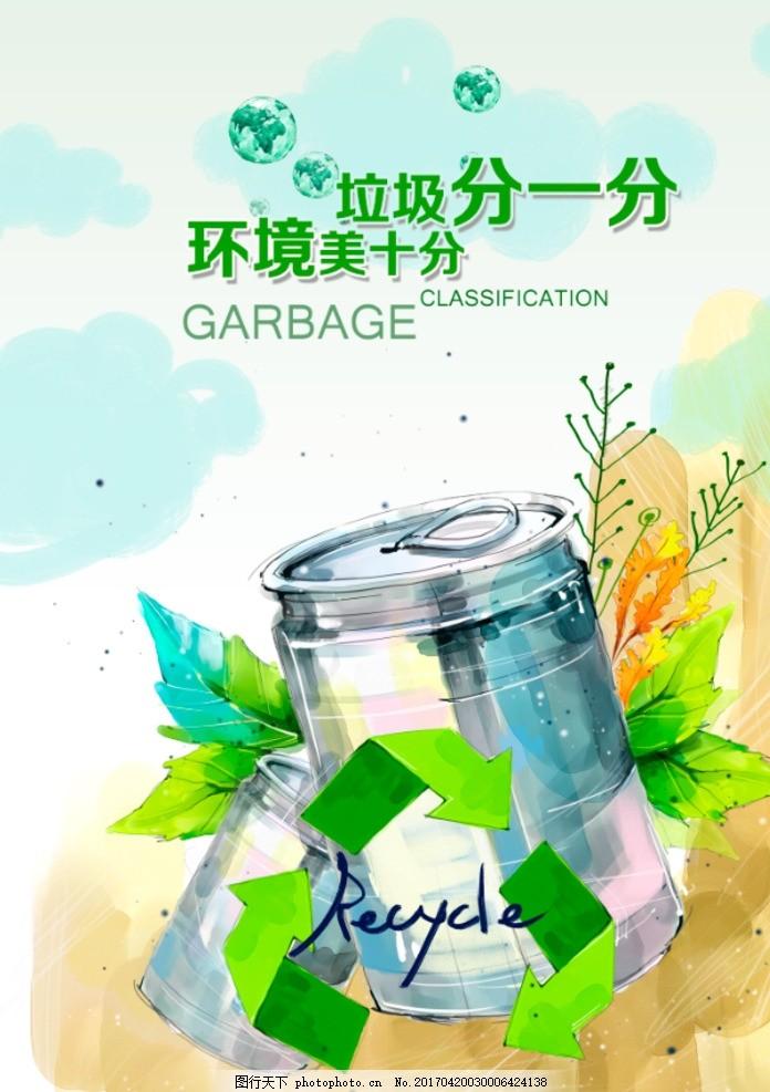 垃圾分类 垃圾入箱 文明城市 垃圾处理 垃圾分类海报 垃圾分类标语