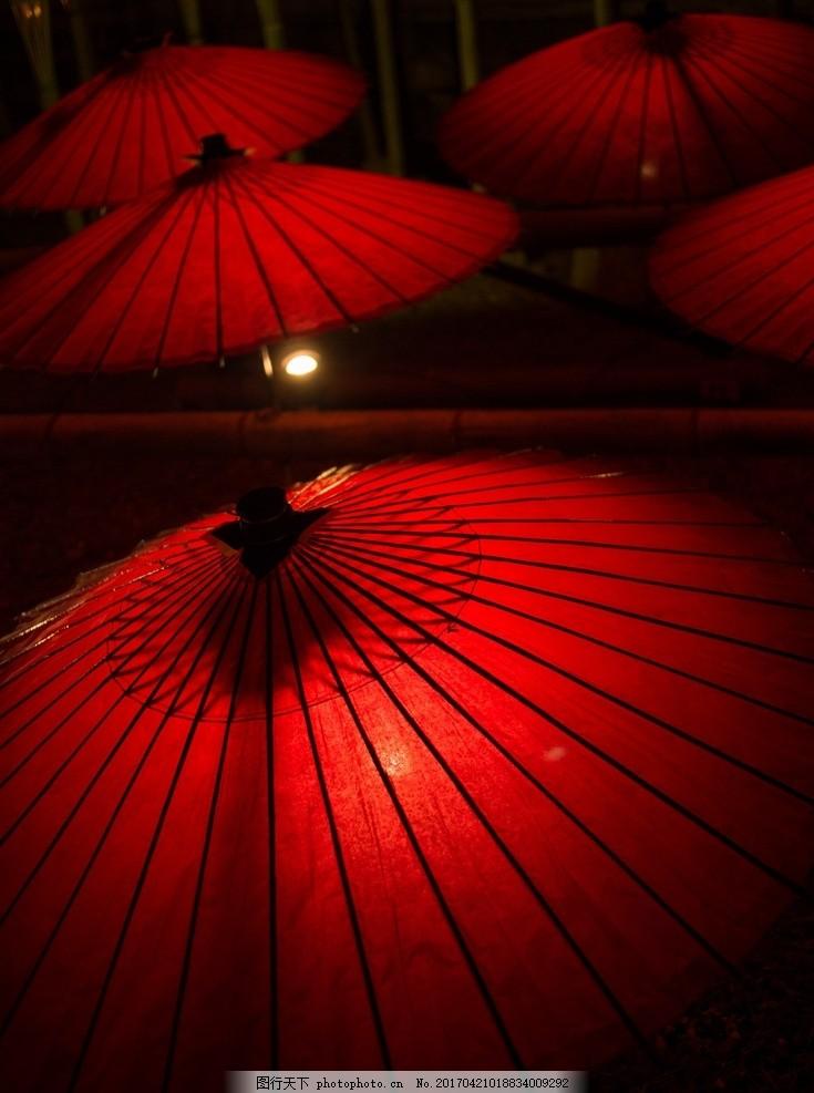 红色的油纸伞 古风油伞 红伞