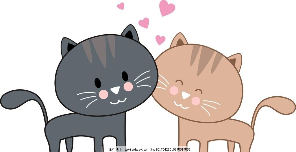可爱 动漫 卡通 纯色 猫咪 小猫 卡通猫 设计 动漫动画 其他 cdr