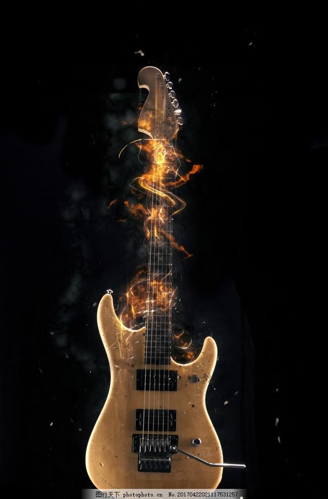 吉他元素手绘二维码