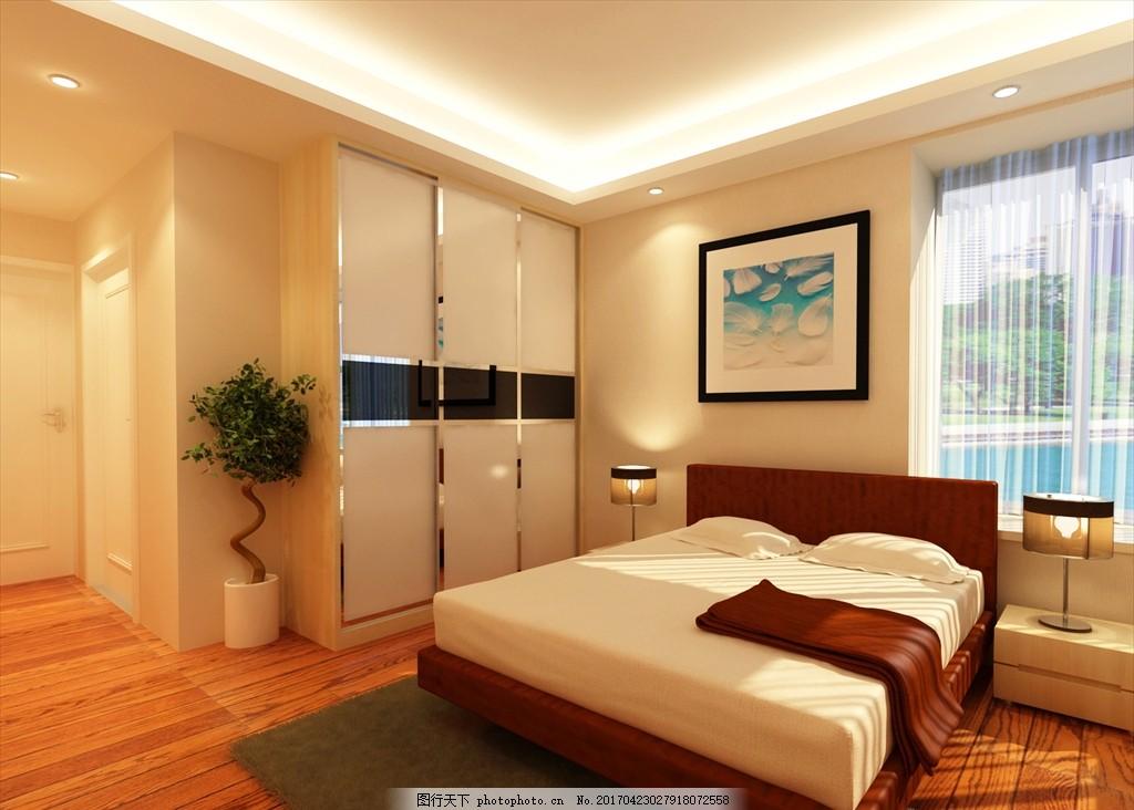 主卧效果图 室内 装修        素雅 温暖 中式 欧式 风格 设计 环境