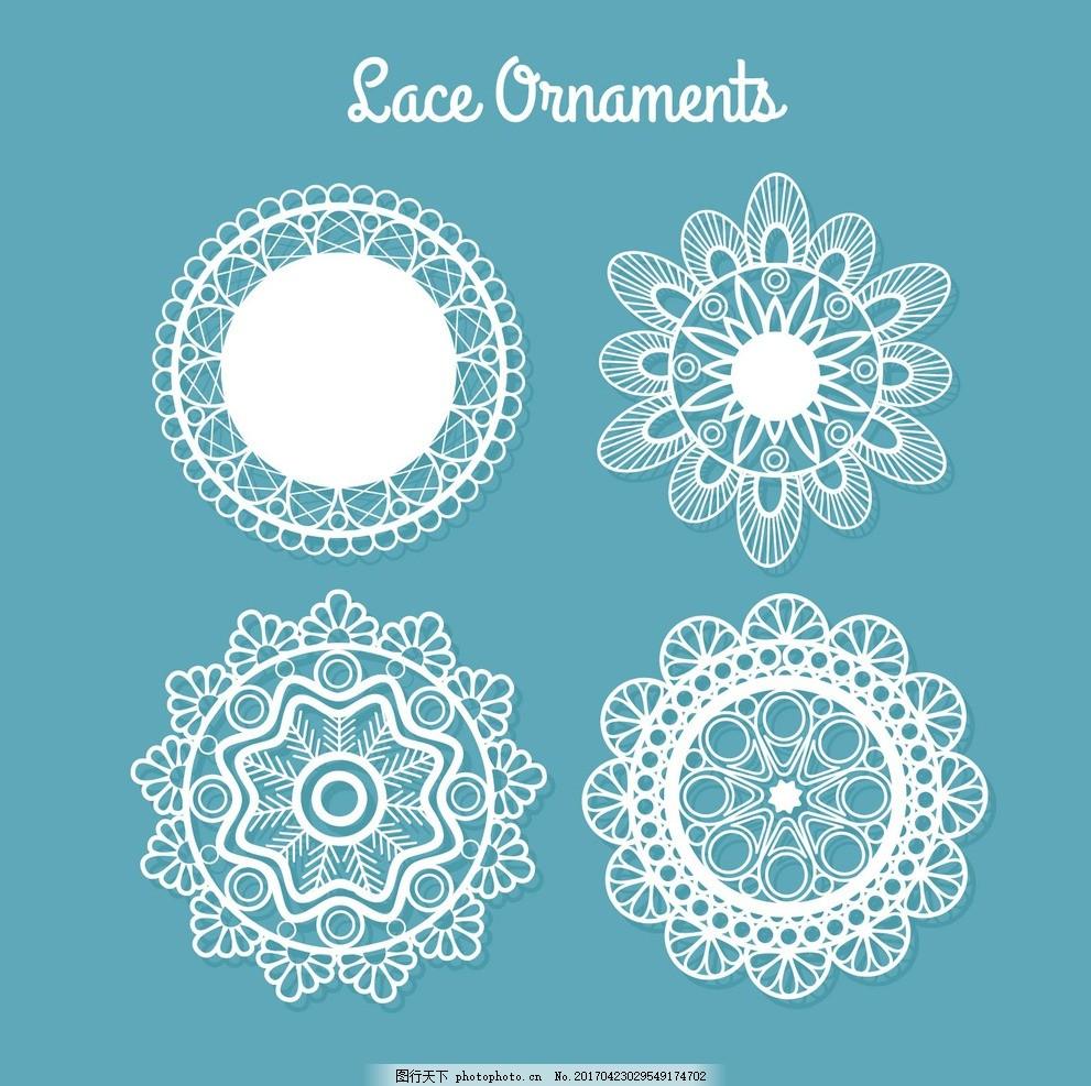 植物花纹 装饰花纹 传统花纹 欧式花纹 古典花边 圆形 花纹 图案 圆形