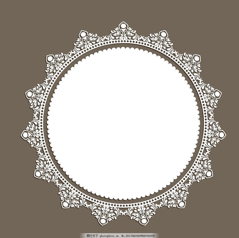 欧式圆形花纹