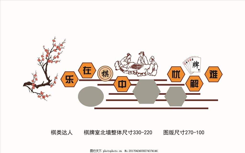 棋类达人 棋牌室 异性展板 展板设计 社区文化 文化艺术