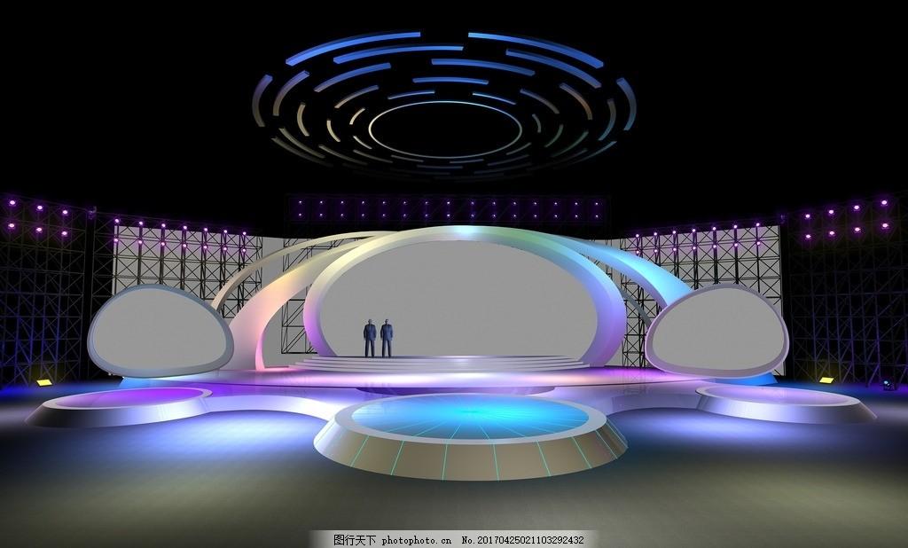 创意舞台 舞美 走秀 t台秀 展示 设计 3d设计 3d作品 max