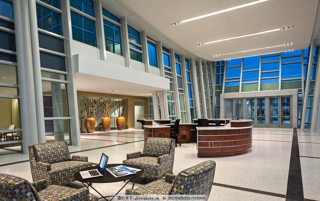 唯美 室内 欧式 简洁 简约 写字楼 办公楼 办公桌 设计 环境设计 大厅