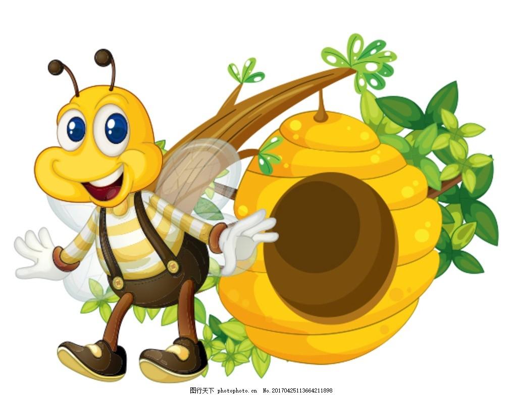 卡通蜜蜂 卡通图片 可爱 矢量 卡通动物 广告设计 卡通设计