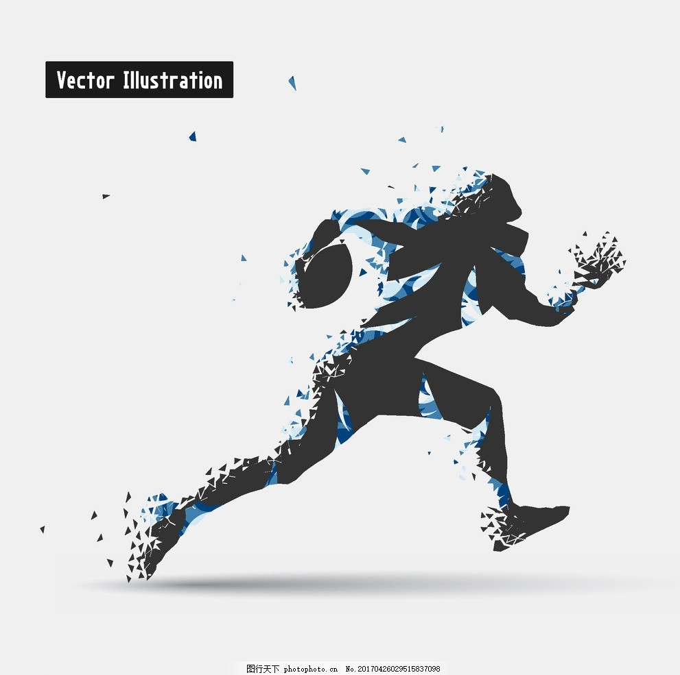 矢量运动 运动 创意 运动人物 人物剪影 卡通 奔跑 设计 广告设计