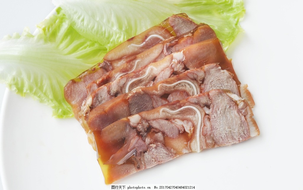 卤猪头肉 猪头肉 猪头 熟肉 肉类 猪 摄影 餐饮美食 食物原料 300dpi