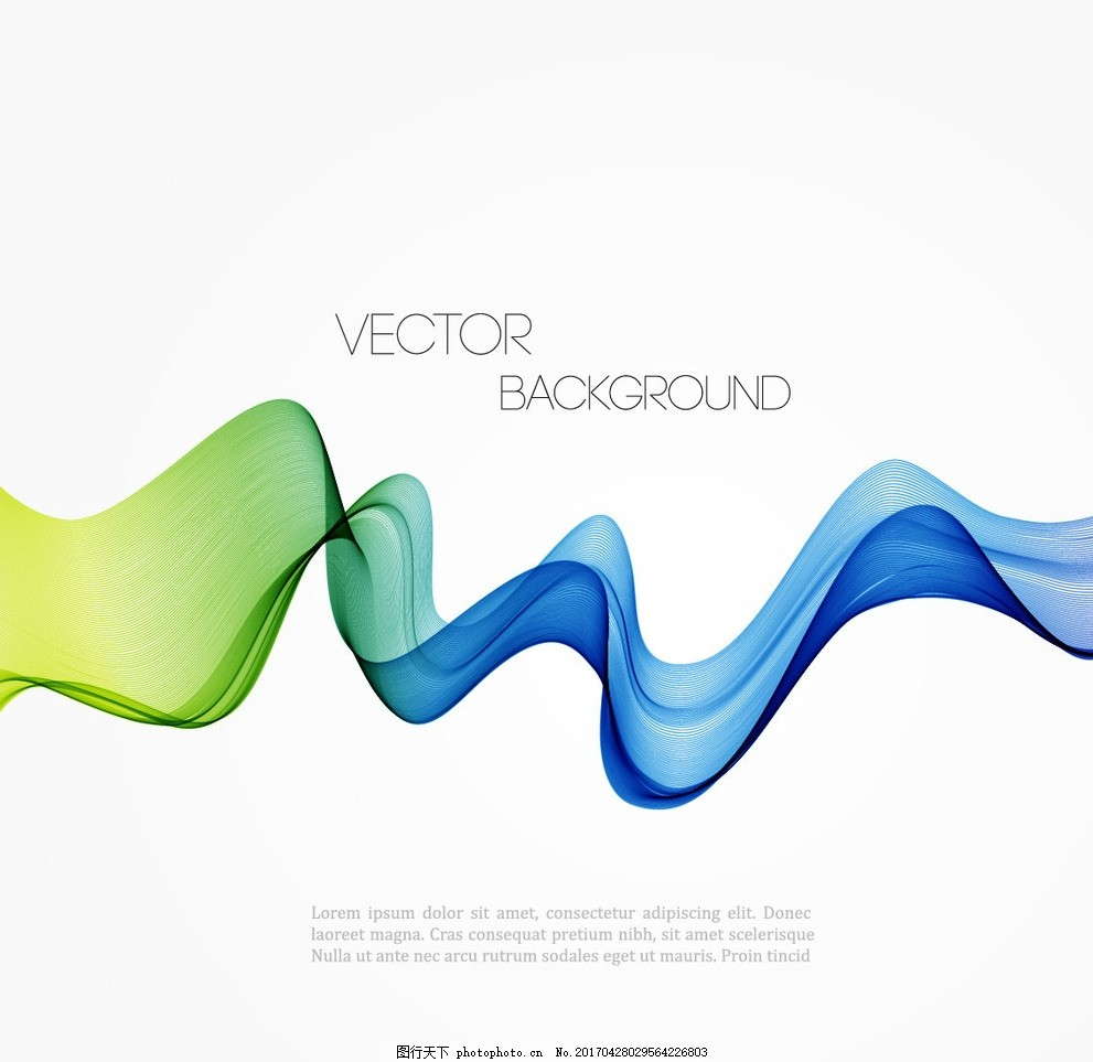 彩色线条 曲线 波浪线 文本背景 手绘线条 不规则线条 抽象 几何