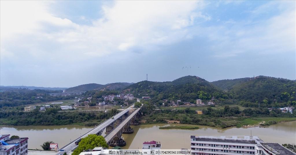 航拍 梅州 兴宁 水口大桥 自然风光 摄影 自然景观 自然风景 300dpi j