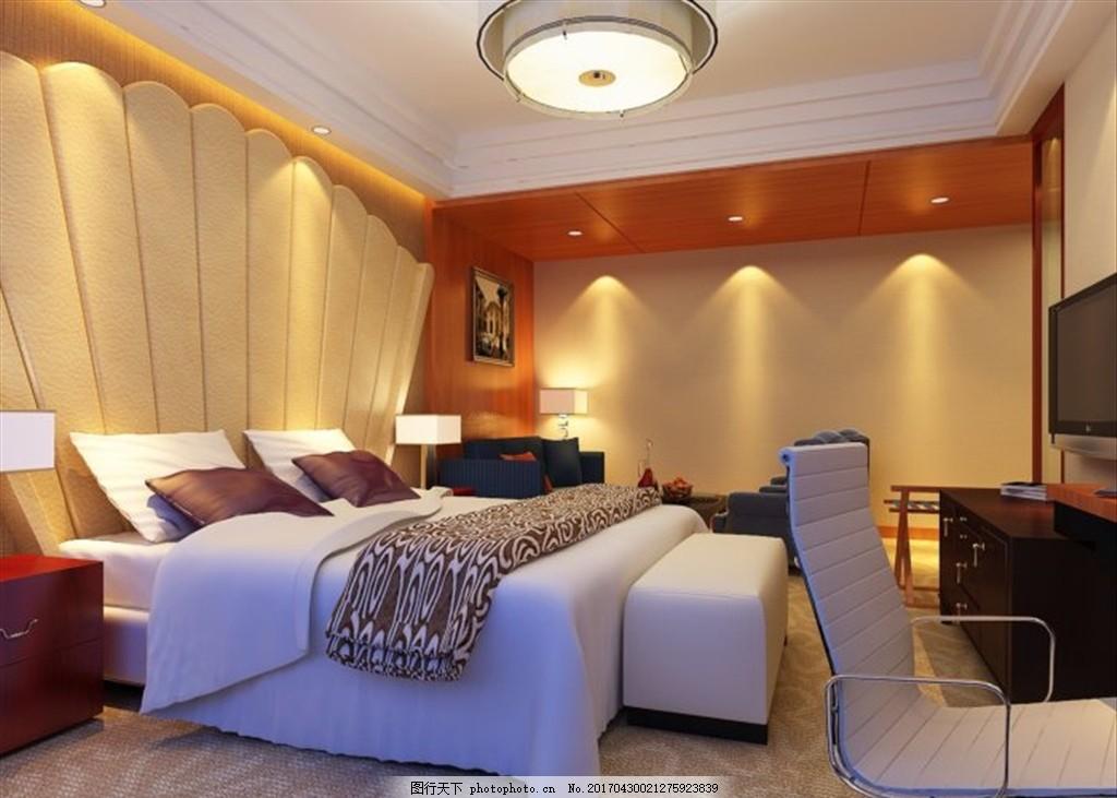 卧室装饰室内效果图 室内设计 室内装修 装饰公司 家装 客房 客厅