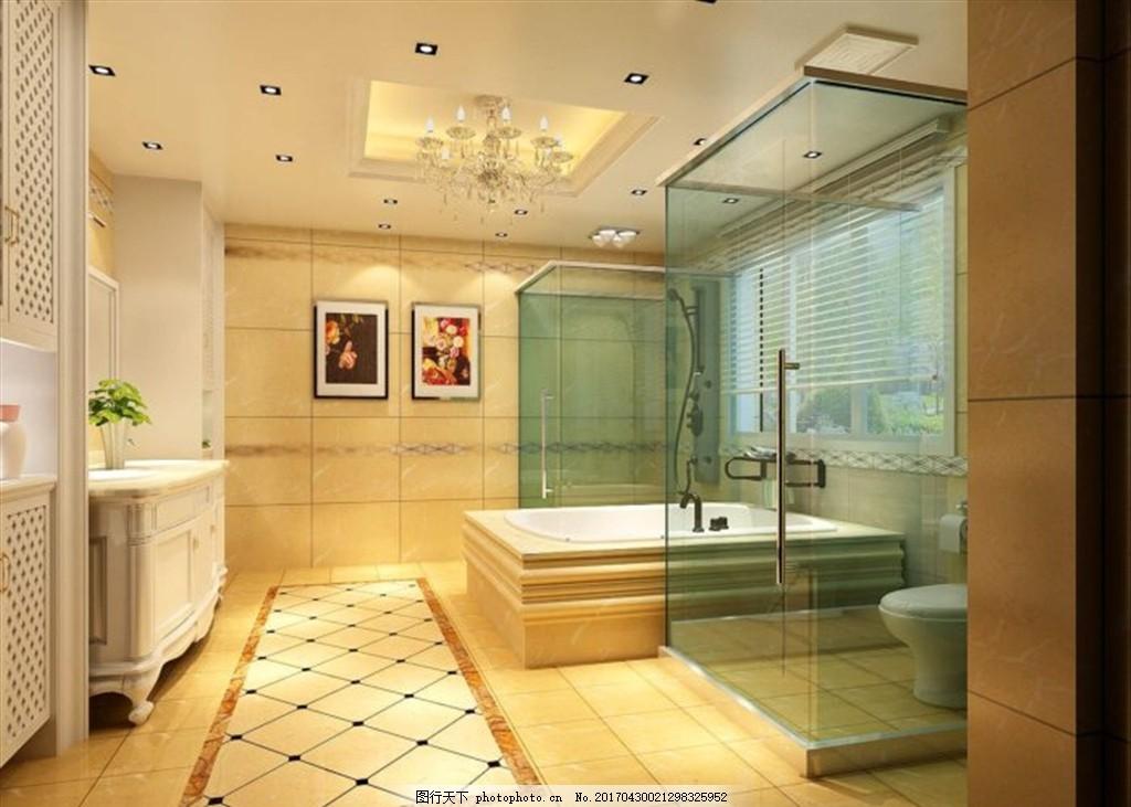 卫生间装饰室内效果图 室内设计 室内装修 装饰公司 家装 客房