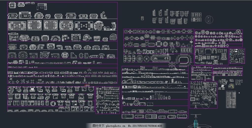 室内图块 欧式平面图块