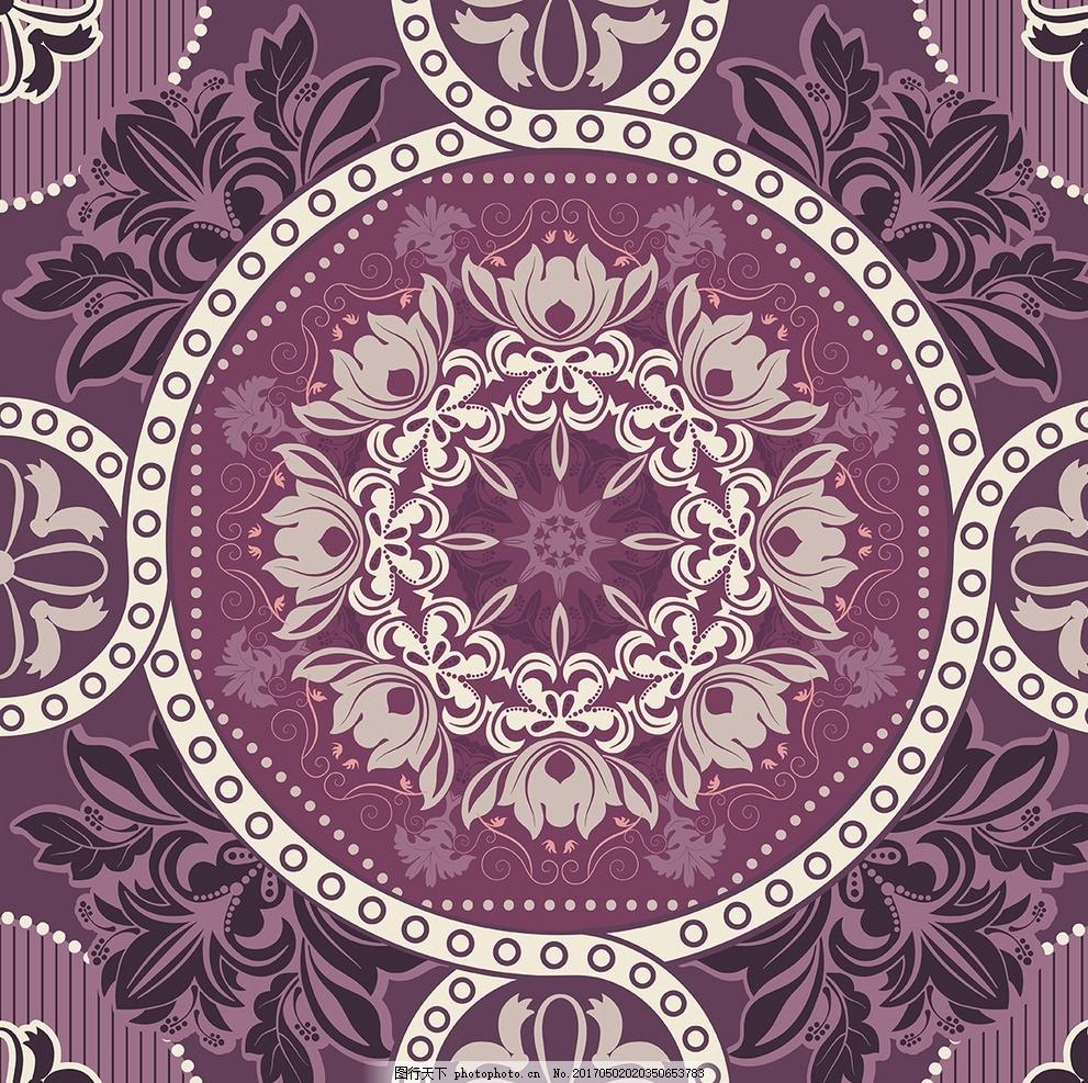 婚礼欧式地毯花纹