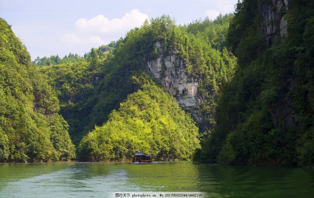清溪湖 山水 景色 风景 美景 绿色 植物 贵州 绥阳 摄影