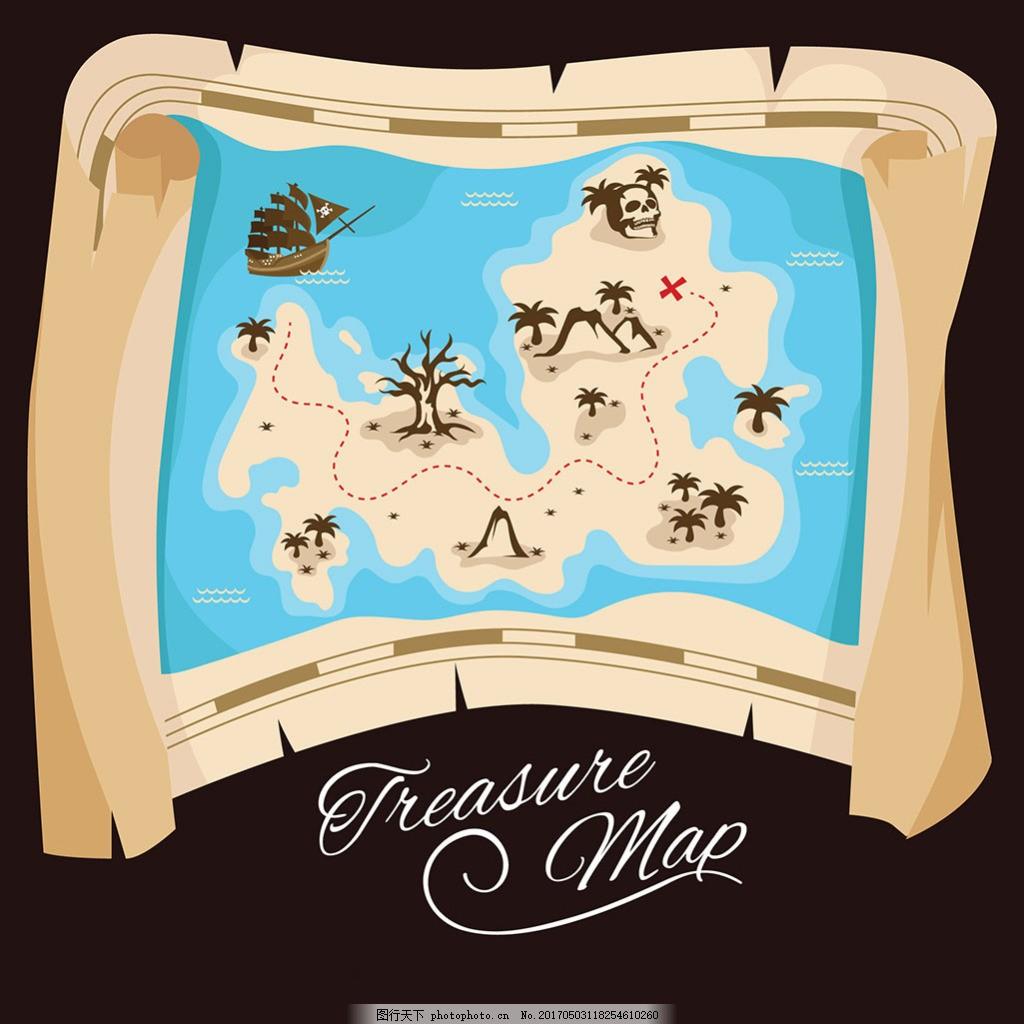 海岛地图与海盗宝藏
