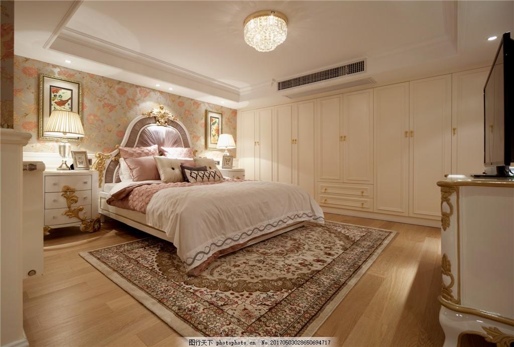 简约欧式卧室装修效果图 室内设计 家装效果图 时尚 设计 素材 室内图片