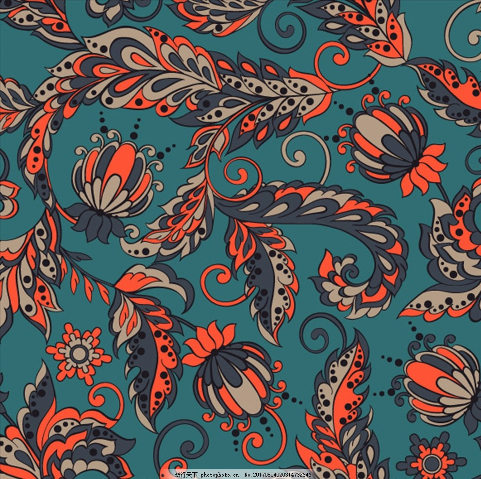 欧式花纹 花纹素材 墙纸布艺 彩色底纹 彩色花纹 藤蔓花纹 植物花纹